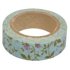 Washi tape met rozen. Matte tape gemaakt van rijstpapier, makkelijk te scheuren en te beschrijven. Breedte: 15 mm. Lengte: 15 meter. De tape kleeft op nagenoeg alle ondergronden en is eenvoudig te verwijderen zonder dat het lijmresten nalaat. Ideaal voor het versieren van knutselwerken en decoraties.