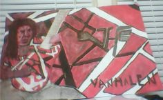 Finished my painting of Eddie Van Halen