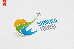 Summer Travel Logo by ft.studio on @creativemarket