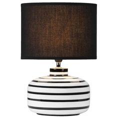 Tafellamp Sarah - zwart/wit