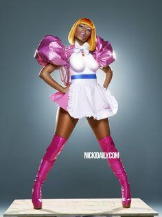 Nicki Minaj flexing a very Sailor Moon style. Jill Greenberg, Nicki Minaj Photos, Vibe Magazine, Light Hair, Photo Illustration, Kanye West, Female Models, Colorful Backgrounds, Pin Up