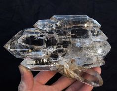 An optically clear Himalayan Gwindel! Truly a once-in-a-lifetime find! Photo by: Himalayan Quartz Minerals And Gemstones, Rocks And Minerals, Crystal Magic, Clear Crystal, Beautiful Rocks, Mineral Stone, Rocks And Gems, Himalayan, Healing Stones