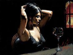 Beautiful, original hand-painted The Dark Room II in your home, painting based on the master's works of Fabian Perez. Description from paintinghere.org. I searched for this on bing.com/images