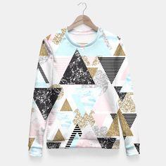 Triangles textures Sudadera entallada