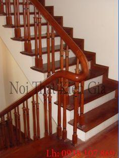 CAU THANG GO - nhiều mẫu thiết kế cầu thang hiện đại được nội thất Kiến Gia xây dựng. Wooden Staircase Railing, Glass Railing, Banisters, Wooden Main Door Design, Home Stairs Design, Stair Decor, Bedroom Bed Design, Modern Stairs, House Stairs
