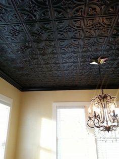 black decorative tin ceiling tiles chandelier home decorating ideas
