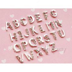 $0.99 2Pcs/set English Letters DIY 3D Nail Art Decoration Mini Rhinestone Charming Nail Art Decoration - BornPrettyStore.com. Use my 10% off code ANGELIQUEC10