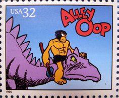 Alley Oop Caveman Dinosaur Stamp 2462   Flickr - Photo Sharing!