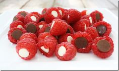 Raspberry Sweeties; Healthy yummy quick snack