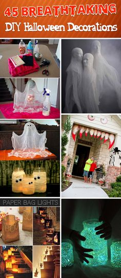 45 easy to do diy halloween decorations