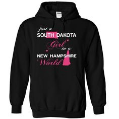 (SDJustHong001) Just A #South Dakota Girl In A New_Hampshire World, Order HERE ==> https://www.sunfrog.com/Valentines/-28SDJustHong001-29-Just-A-South-Dakota-Girl-In-A-New-5FHampshire-World-Black-Hoodie.html?6789, Please tag & share with your friends who would love it , #christmasgifts #renegadelife #jeepsafari  #south dakota travel, rapid city south dakota, south dakota farm  #posters #kids #parenting #men #outdoors #photography #products #quotes