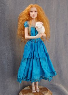 Alice in Wonderland art doll by polymer-people. #Alice #Wonderland #victorian #Art #gosstudio .★ We recommend Gift Shop: http://www.zazzle.com/vintagestylestudio ★