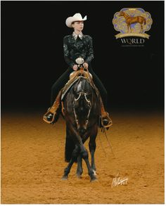 AQHA World Show; beautiful front cross-over in horsemanship