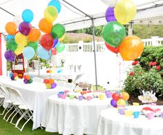 Balloons always make for such great party decor - especially when they are brightly colored. You littles are sure to love them too!