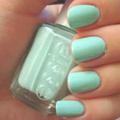 Been seeing a lot of mint-colored nail polish lately... it's kind-of growing on me!