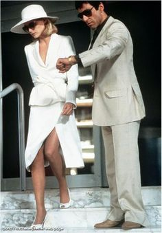 Michelle Pfeiffer in White at Scarface by Armani...