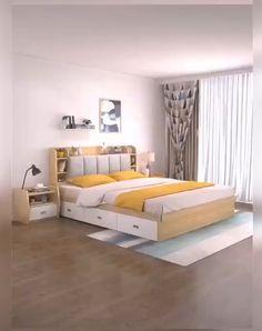 Small Room Design Bedroom, Bedroom Closet Design, Bedroom Furniture Design, Home Room Design, Trendy Bedroom, Bed Furniture, Bedroom Storage Ideas For Small Spaces, Couple Bedroom Decor, Box Room Bedroom Ideas
