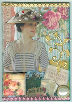 Lady Mary - Artist Trading Cards by  Gina Atkins Peake.