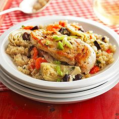 Quinoa with Chicken and Artichokes From Better Homes and Gardens, ideas and improvement projects for your home and garden plus recipes and entertaining ideas.