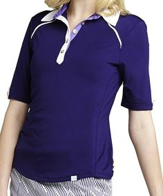 Another great find on #zulily! Twilight & White Linda Polo by GGblue #zulilyfinds