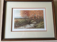 "Kathleen Cantin ""Autumn Leaves"" Limited Edition Etching Print, Signed, Framed"