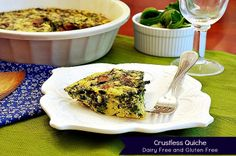 Easy Gluten Free Dairy Free Quiche via Our Family Eats.  Perfect for breakfast, lunch, or dinner.  It can even be made ahead for a super fast meal.