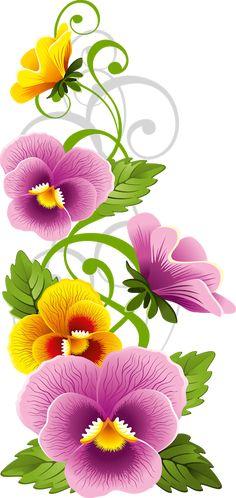 Tubes fleurs page 3 One Stroke Painting, Tole Painting, Fabric Painting, Painting & Drawing, Flower Phone Wallpaper, Clip Art, Flower Clipart, Arte Floral, Floral Theme