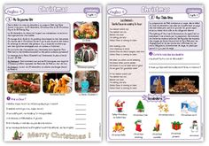Christmas, anglais cycle 3