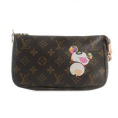 This is the authentic LOUIS VUITTON Monogram Murakami Panda Wallet.   This wallet features the playful design of a colorful and imaginative panda character by Japanese Pop artist Takashi Murakami.
