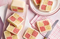 This pretty Battenberg cake is light, fluffy and will go down a storm with the whole family.