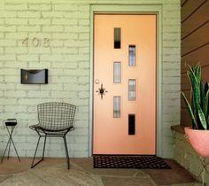Mid-century modern door