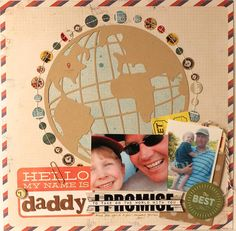 I Promise 12×12 Layout by Suz Mannecke using the LBD Kit Club Every Little Piece scrapbook kit from January 2013.     monthly kit club, scrapbook kit club, scrapbook layout, scrapbook page
