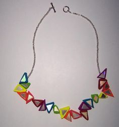 Broken Mirror Necklace - Very simple to make and crafted from shards of broken, obsolete CDs!