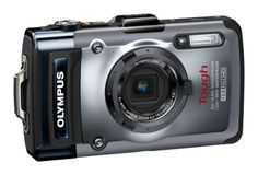Olympus TG-1 compact camera. Highly recommended model in the rugged and waterproof camera category (What Digital Camera - 90%, PC Mag - 4.5/5, TechRadar - 4/5). Aimed at outdoor, thrills and spills adventurer types. Waterproof to a depth of depth of 12m (40ft). Freezeproof to -10C (14F). Crushproof to 100kg (220lbs). Shockproof if dropped from a height of up to 2m (6.6ft). In-built GPS, electronic compass and manometer.