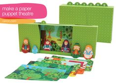 Free printable paper toy puppet theatre, via Canon. The backgrounds are LOVELY, it'd be cool to print these onto fabric and make them into finger puppets that way :D
