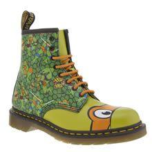 Mens Green Dr Martens Ninja Turtles Michelangelo Boots | schuh