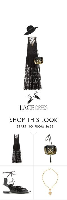 """""""Black Boho Lace"""" by hollowpoint-smile ❤ liked on Polyvore featuring Chloé, Yves Saint Laurent, Dolce&Gabbana and Topshop"""