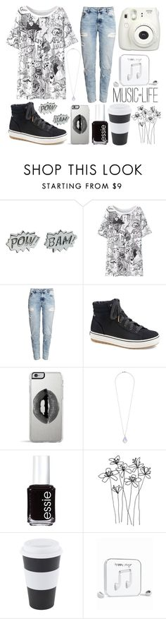 """""""Cartoon"""" by katherinegrace1 ❤ liked on Polyvore featuring Edge Only, H&M, Keds, Lipsy, Miss Selfridge, Essie and Happy Plugs"""