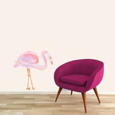 Watercolor Flamingo Printed Wall Decal - Sweetums Wall Decals