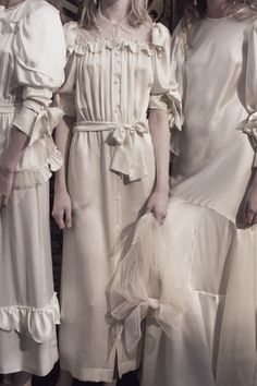 Backstage at Simone Rocha Spring/Summer 2018.