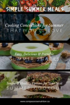 Healthy and Simple Summer Meals