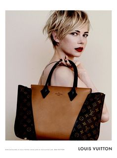 7ada72c60fff via The Neo-traditionalist  Michelle Williams Louis Vuitton Handbag Ad  Campaign. Michelle Williams looks amazing. Love the defined messiness of  her hair.