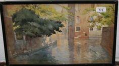 Ernest Thesiger -  Sunlight Shade Venice, watercolor