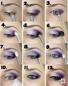 Make up for beginners. - Schminken - Make up augen Purple Eye Makeup, Smokey Eye Makeup, Eyeshadow Makeup, Mac Makeup, Purple Eyeshadow Looks, Punk Makeup, Natural Eyeshadow, Makeup Geek, Eyeshadows
