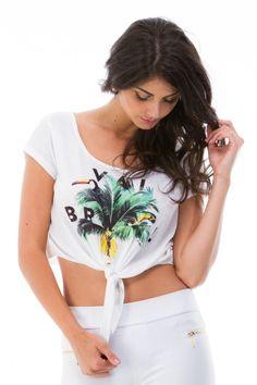 TOP COURT BLANC À NOUER http://www.princesseboutique.com/238-tee-shirts
