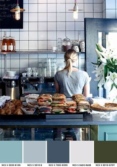 {My most favorite place for a latte and an afternoon of writing ll Kaffeverket ll Eriksgatan Snickarbacken 7 ll Stockholm} Menu Restaurant Design, Restaurant Bar, Bakery Design, Cafe Design, Cafe Coton, Deco Cafe, Snacking, Sandwich Shops, Cafe Shop
