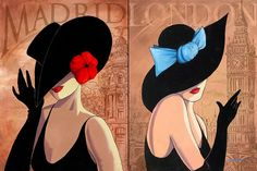 Lorraine Dell Wood ~ Flirty Hat | Tutt'Art@ | Pittura * Scultura * Poesia * Musica |