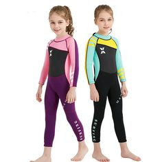 8bbbb923c4 US $27.44 21% OFF|Diving Suit 2.5mm Neoprene Wetsuit Swimwear Girls Keep  Warm One piece Long Sleeves UV protection Surfing Sailing Clothing Swim-in  Wetsuit ...