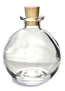 Cork Round Glass Bottle 8.5oz (250ml) w/ Cork - CKRD250