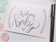 Hello baby greeting card nursery decor new baby welcome boy welcome baby card baby shower card by happydoodlesbykatie m4hsunfo